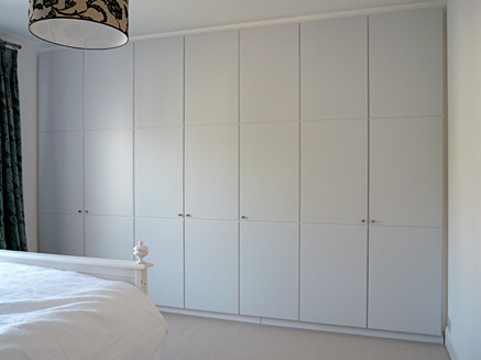 Commissions White Painted Wardrobe